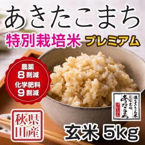 30年産新米 秋田県産 あきたこまち 特別栽培プレミアム 玄米 5kg  慣行栽培比 農薬8割減、化学肥料9割減 農家直送|hanatsukafarm