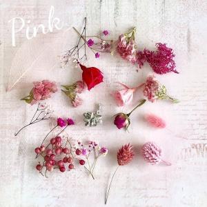 【ドライフラワー・プリザーブドフラワー】マイクロローズMIX ピンク系 ハーバリウム レジン 髪飾り 花材 アレンジ