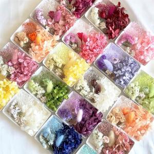 【ドライフラワー・プリザーブドフラワー】マイクロローズ花材セット アジサイ ハーバリウム 髪飾り キット セット