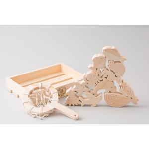 山のくじら舎 おふろでちゃぷちゃぷ 木のおもちゃ 土佐檜の商品画像|ナビ