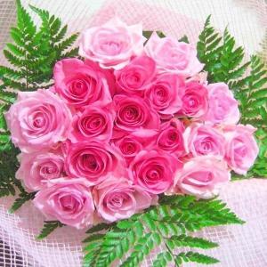 母の日2017ピンク大輪国産バラの花束大輪20本一部地域送料...