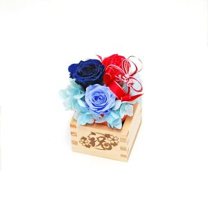 枡のお花で益々繁盛! 開店・開業祝い、周年祝いに、 縁起の良い枡の器に、 雅な色合いのプリザーブドフ...