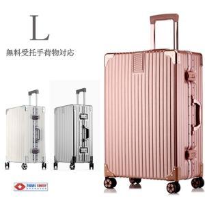 スーツケース アルミニウムフレーム式 大型 Lサイズ TSAロック搭載 W車輪,旅行かばん・キャリーバッグ・アウトレット 送料無料 A053Lの画像