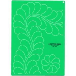 金亀 LH430110-1313 キルティングテンプレート大 「フェザーとフラワー」 リトルハウス パッチワーク キルト handcraft