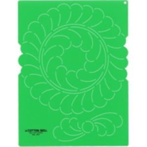 金亀 LH430110-1317 キルティングテンプレート大 「フェザーの円と小さい花」 リトルハウス handcraft
