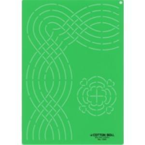 金亀 LH430110-1320 キルティングテンプレート大「直線、コーナー、花」 リトルハウス handcraft