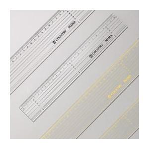 カントリーママ #7,8パッチワーク定規25cm黒黄ライン(パッチワーク用品) handcraft