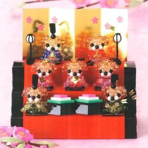パナミ CR-49 クラフトビーズで作る「クリスタル三段飾り」 お雛様 雛人形 手作りキット 節句 ミニ コンパクト 取寄せ商品|handcraft