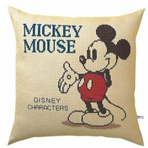 刺繍キット オリムパス 5881ミッキーマウス クロスステッチ刺しゅうキット クッションカバー 刺繍 ディズニー handcraft