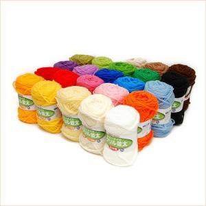 毛糸 アクリル毛糸 並太 ホビーメイク 23色各1玉セット 日本製 まとめ買い用 ハマナカ毛糸|handcraft