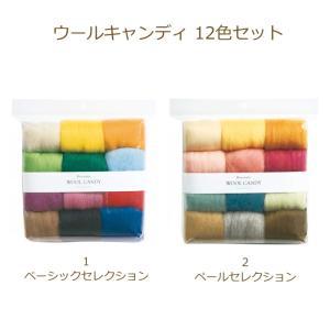 ネコポスご利用不可商品です。  カラフルな羊毛をバランス良くまとめた多色セット。 これ1つで幅広い作...