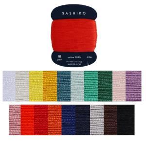 ネコポス対象商品です。  4本撚りの最も標準的な太さの刺し子糸。 細かな柄から大きな柄まで刺しやすい...