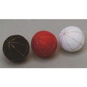 6個単位 フジックス 都手まり芯 白/黒/赤 手鞠/てまり