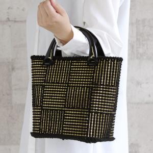 編み図付きキット 市松模様のバッグ H167-193-320 ハマナカボニー あみあみファインネット...
