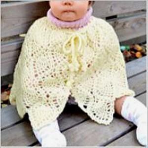 手編みキット 編み図付(N-1049) ハマナカ かわいい赤ちゃんで編む「パイナップルベビーケープ」...