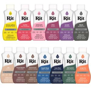 Rit 染料 リキッドタイプ 236ml 液体 (全温度対応) 家庭用染料 rit nsk