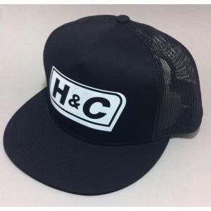 メッシュキャップ スナップバック ネームロゴ H&C |handcsports