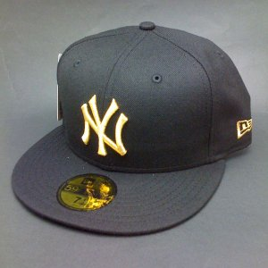 ニューエラ59 newera ニューヨーク.ヤンキース BLACK/GOLD|handcsports