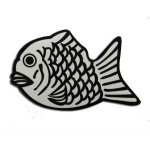 FISH&LIFE/ステッカーセット/タイ焼きロゴ/3枚入り|handcsports