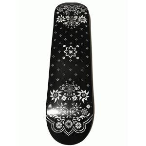 バンダナスケートデッキ M×T BLACK/WHITE 7.625インチ|handcsports
