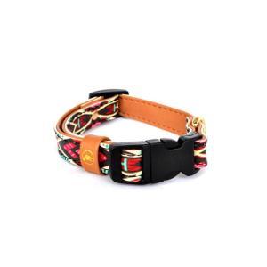 【猫の首輪とブレスレットセット】 デザインカラー:Boho 鮮やかで幾何学的な模様が特徴的  ありそ...