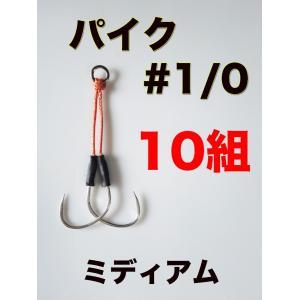 アシストフック スロージギング ミディアム 10組 パイク #1/0