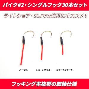 アシストフック シングルフック 30本セット パイク #2