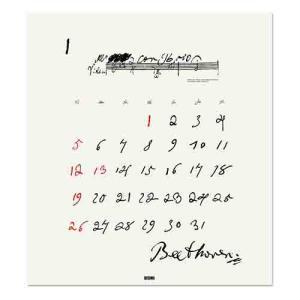 東急ハンズ 【2020年版・壁掛】 ミサワホーム 偉人の生涯と筆跡カレンダー ルートヴィヒ・ヴァン・ベートーベン|hands-net|02