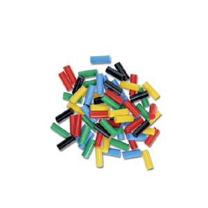 カラー:カラー 赤/青/黄/黒/緑 本体サイズ(約):[1個当]径7×長20mm 入数:70本 素材...