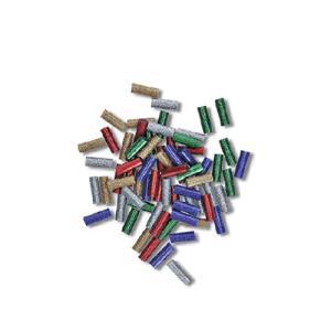 カラー:グリッター 金/銀/赤/青/緑 本体サイズ(約):[1個当]径7×長20mm 入数:70本 ...