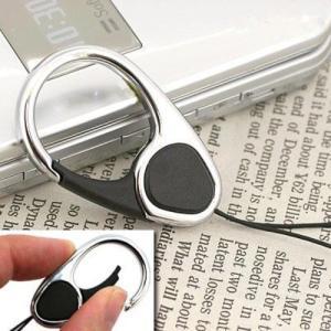 東急ハンズ HandLinkerEXTRA カラビナリング携帯ストラップ ブラック|hands-net