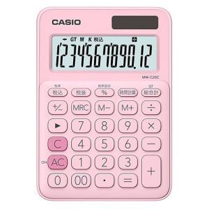 東急ハンズ カシオ(CASIO) カラフル電卓 MW-C20C-PK-N ペールピンク|hands-net