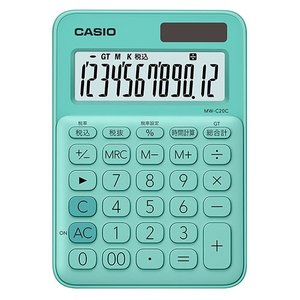 東急ハンズ カシオ(CASIO) カラフル電卓 MW-C20C-PK-N ミントグリーン|hands-net
