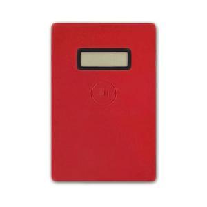 カラー:レッド 本体サイズ(約):幅58.5×奥5.6×高88mm 重量(約):24g(コイン電池含...