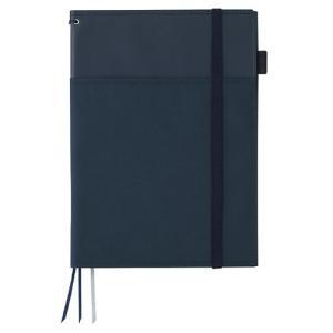 カラー:紺 サイズ(約):[カバー]縦276×横205×厚13mm [ノートサイズ]6号(セミB5)...