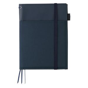 カラー:紺 サイズ(約):[カバー]縦232×横175×厚14mm [ノートサイズ]3号(A5)  ...