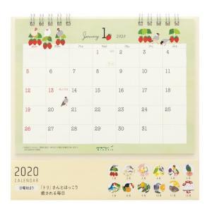 東急ハンズ 【2020年版・卓上】 ミドリ カレンダー 卓上リング M 30019006 トリ柄 日曜始まり|hands-net