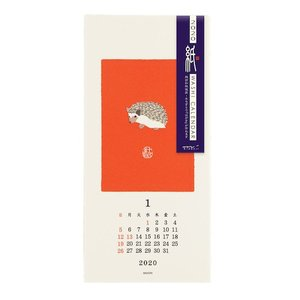 東急ハンズ 【2020年版・壁掛】 ミドリ 壁掛カレンダー 越前和紙 S 30197006 動物柄 日曜始まり|hands-net