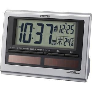 東急ハンズ シチズン 電波目覚まし時計 パルデジットソーラーR125 8RZ125−019|hands-net