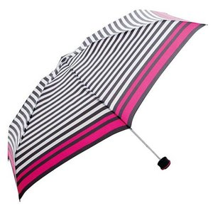 東急ハンズ HUS. スマートデュオ 晴雨兼用折りたたみ傘 54503 ストライプ(ブラック/ホワイト)|hands-net
