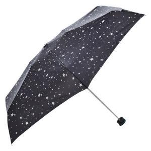 東急ハンズ HUS. スマートデュオ 晴雨兼用折りたたみ傘 54538 トゥインクルブラック