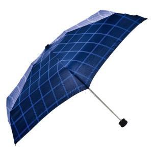 東急ハンズ HUS. スマートデュオ 晴雨兼用折りたたみ傘 54545 ウィンドウペインネイビー