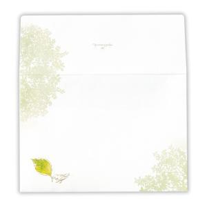 東急ハンズ 日本ホールマーク レターパッド用封筒 シャイニングモーメント 760007 木葉と小鳥|hands-net
