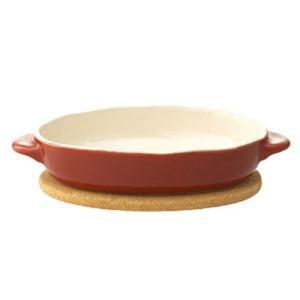 カラー:赤 素材:[ボウル]陶器、[マット]天然コルク 付属品:コルクマット 耐熱温度(約):[皿]...