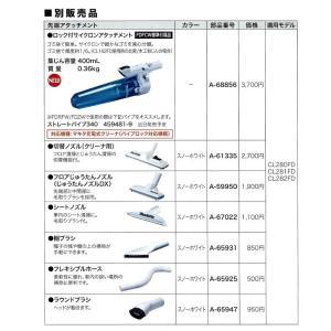 【makita マキタ】18V充電式クリーナー(紙パック式)CL282FDFCW ワンタッチスイッチ+ロック付サイクロン 3.0Ahバッテリ+充電器付|handskotera|11