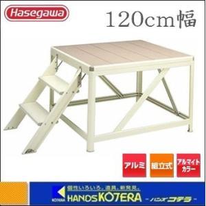 【代引き不可】【ハセガワ長谷川】Hasegawa DR型 朝礼台 幅120cm 天板高さ0.8m DR-12