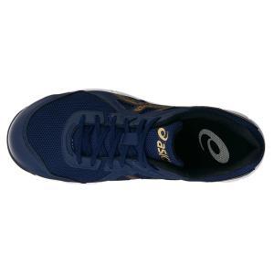 メーカーなくなり次第終了【asics アシックス】作業用靴 安全スニーカー ウィンジョブCP106 ブルー×ゴールド FCP106.4994|handskotera|07