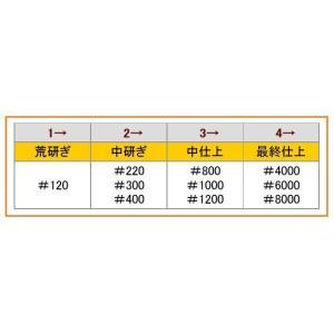 【松永トイシ】 キングデラックス砥石 キング仕上砥石 G-1 ゴールド #8000 210×73×22mm[台付] 最終超仕上用|handskotera|04