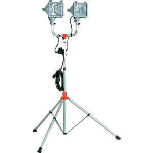 ハタヤ 防雨型スタンド付ハロゲンライト 500W×2灯 100V電線5m|handskotera