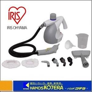 【IRIS アイリスオーヤマ】 スチームクリーナー コンパクトタイプ ホワイト/グレー STM-304-WH|handskotera